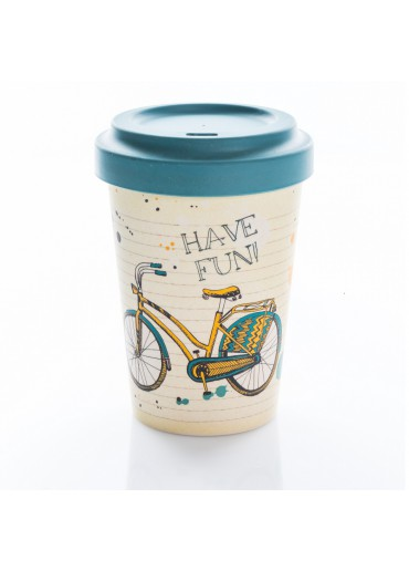 "Bamboo Cup ""Bike Fun"" Chic.Mic"