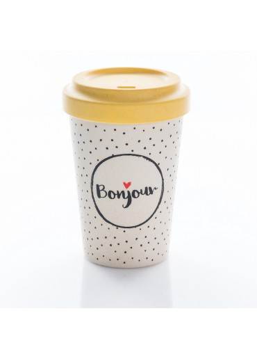 """Bamboo Cup """"Bonjour"""" Chic.Mic"""