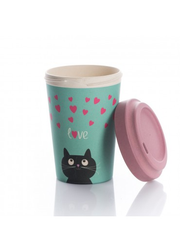"Bamboo Cup ""Kitty Love"" Chic.Mic"