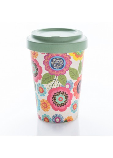 "Bamboo Cup ""Flower Power"" Chic.Mic"