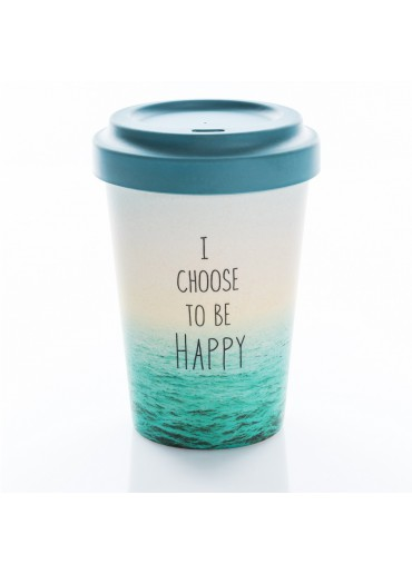 """Bamboo Cup """"Choose Happy"""" Chic.Mic"""