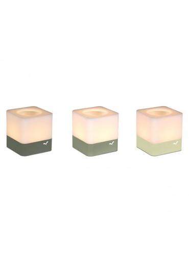 Fermob Windlichter Cuub 3er Set Lindgrün / Kaktus / Rosmarin