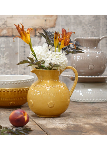 Daisy Keramik Krug 1,8 Liter Honig