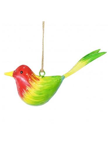 Metall Vogel bunt zum Hängen klein (103376)