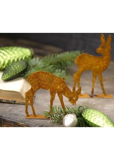 Edelrost Bambi stehend klein H14,5 cm