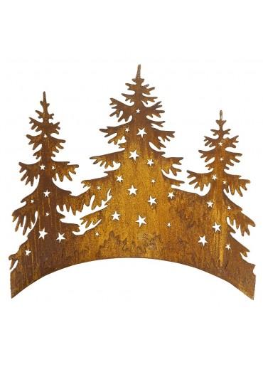 Edelrost Tannenbäume halbrund gebogen B58 cm