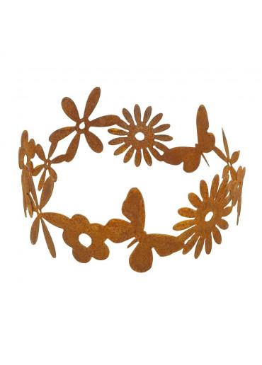 Edelrost Blumenring 30 cm