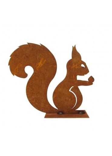 Edelrost Eichhörnchen auf Platte mittel