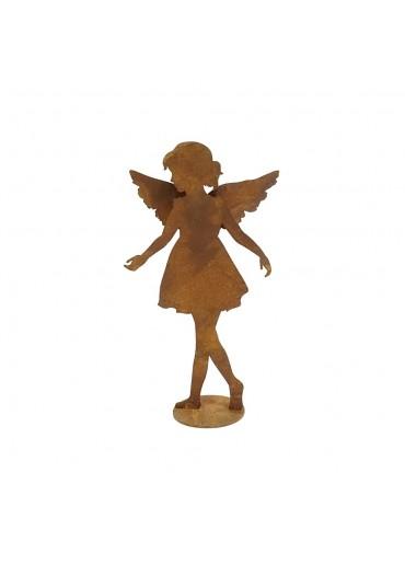 """Edelrost Engel """"Anna-Lisa"""" auf Platte klein H28,5 cm"""