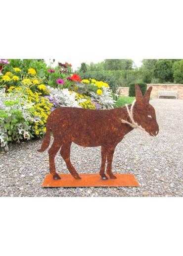 Rostiger Esel auf Platte groß