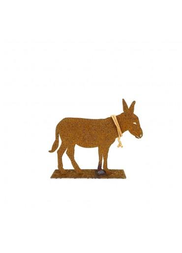 Rostiger Esel auf Platte klein