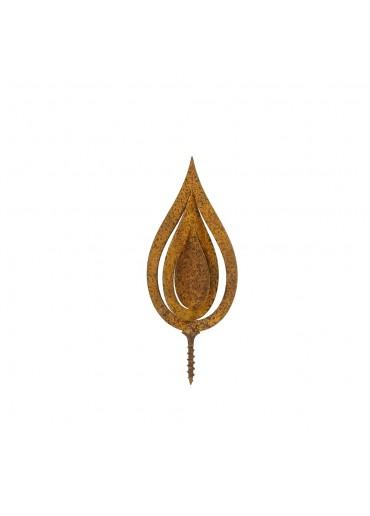 Edelrost Flamme 3D H10,5 cm