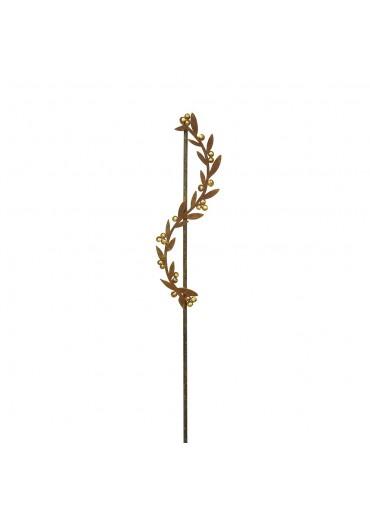Edelrost Gartenstecker kleine Ranke mit Goldbeeren H118 cm