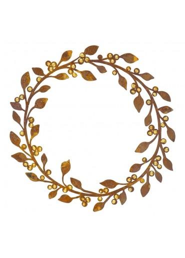 Edelrost Kranz mit Goldbeeren Ø 37 cm