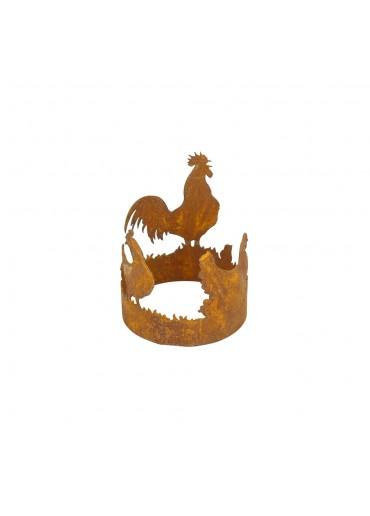 Edelrost Windlicht Hühnerring klein Ø10 cm