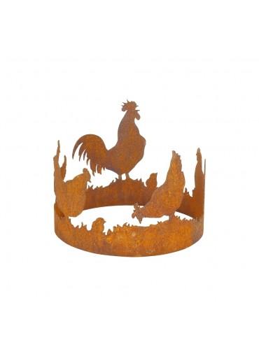 Edelrost Windlicht Hühnerring mittel Ø15 cm