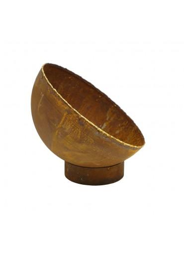 Edelrost Standring Ø12 cm für Schalen und Kugeln Ø25 cm
