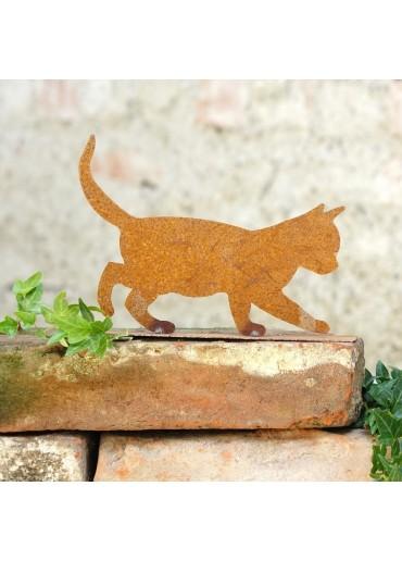 """Edelrost Katze """"schleichend"""" klein"""