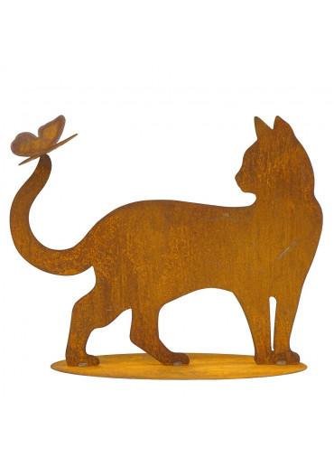 Edelrost Katze auf Platte