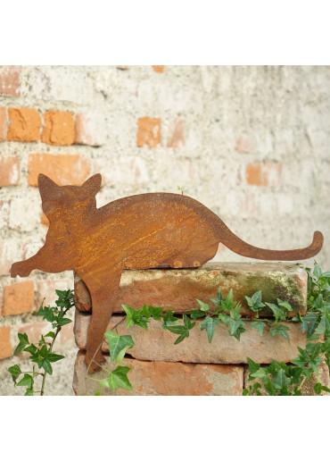 Edelrost Katze Kantenhocker