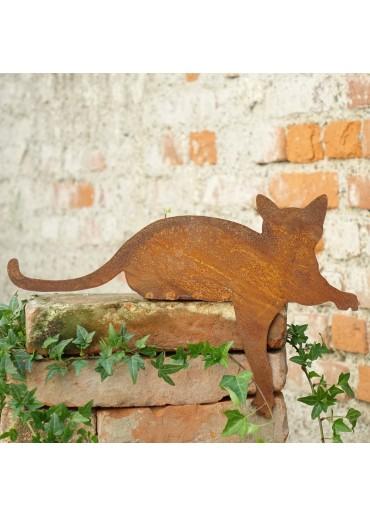 Edelrost Katze Kantenhocker liegend