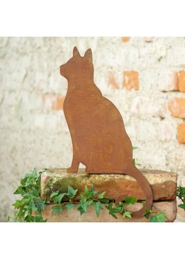 Edelrost Katze Kantenhocker stehend