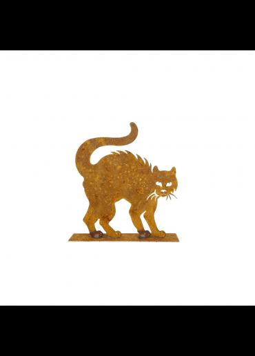 Edelrost Katze mit Buckel klein