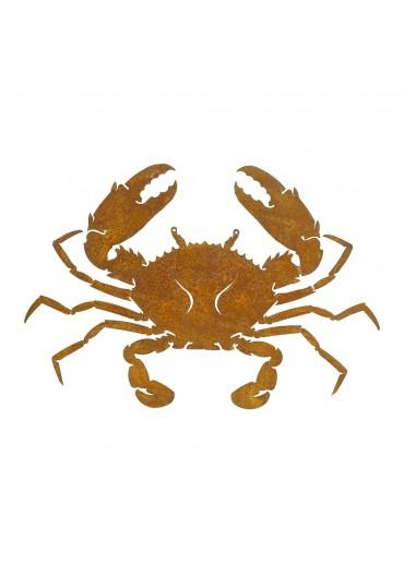 Edelrost Krabbe groß H25 cm