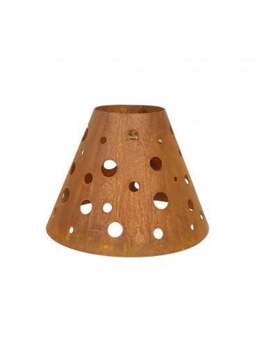 """Edelrost Lampenschirm """"Dots"""" für Weinglas Ø15 cm"""