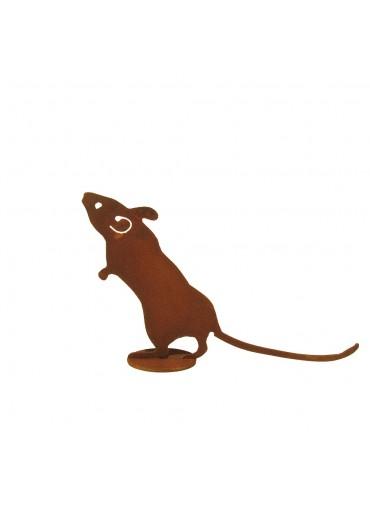 Edelrost Maus auf Platte