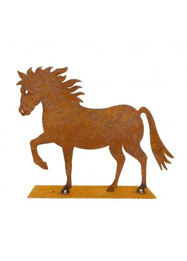 """Edelrost Pferd """"Cavallo"""" groß"""