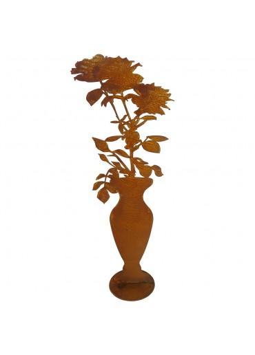 Edelrost Rosen Vase groß H 60 cm