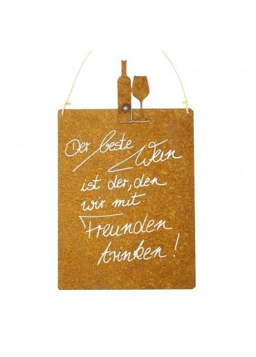 Edelrost Spruchtafel M Wein | Der beste Wein