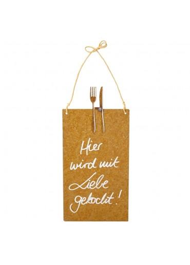 Rostige Spruchtafel S Besteck | Mit Liebe gekocht