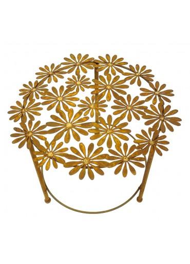 """Edelrost Tisch """"Margerite"""" mit Goldpunkten Ø 60 cm"""