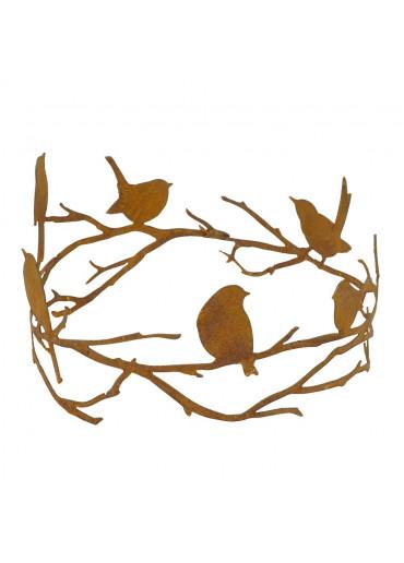 Edelrost Astring mit Vögeln