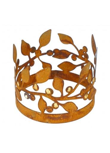 Edelrost Windlicht Ring mit Goldbeeren Ø14 cm