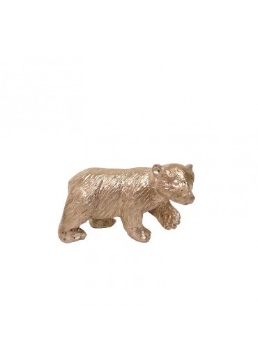 Bronze Eisbär klein silbern patiniert