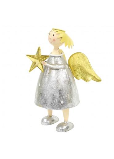 Engel Lena groß mit Schlagsilber zum Stellen