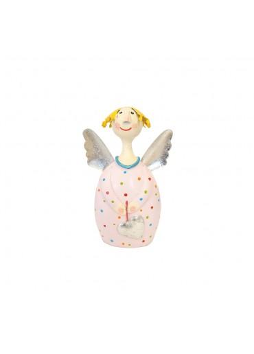 Engel Lotta S zum Stellen zart-rosa mit silber