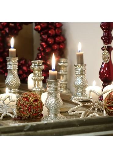 "Glas Kerzenständer ""Exotic"" groß"