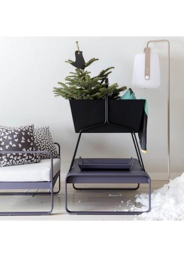 Fermob Set Einfacher Standfuß und Outdoor LED Lampe Balad H25 in Muskat