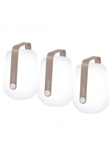 Fermob Balad Set mit 3 Lampen H12 cm Muskat