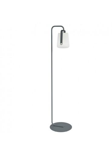 Fermob Set einfacher Standfuß und Outdoor LED Lampe Balad H25 in Gewittergrau