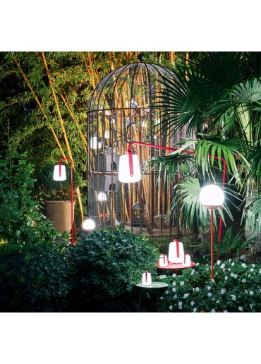 Fermob Lampe Balad H38 Rose Praline