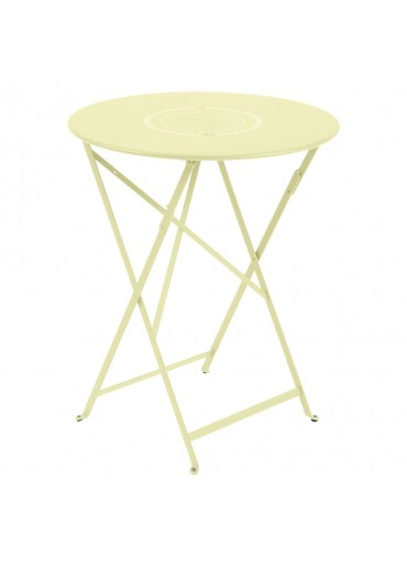 Fermob Tisch Floreal Ø60 cm Zitronensorbet