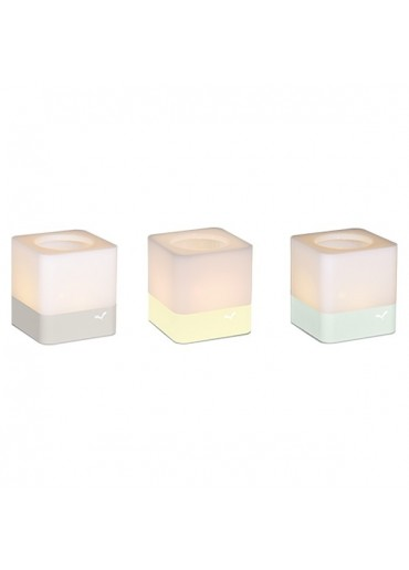 Fermob Windlichter Cuub 3er Set Gletscherminze / Zitronensorbet / Lehmgrau