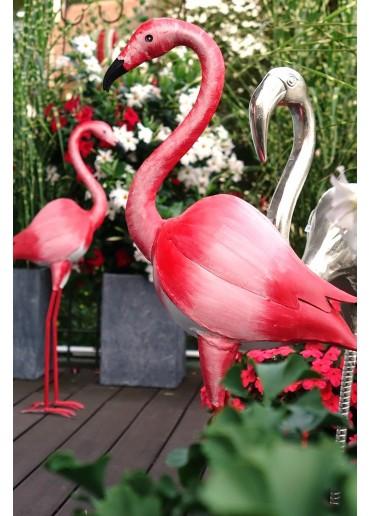 Flamingo Metall bemalt XL