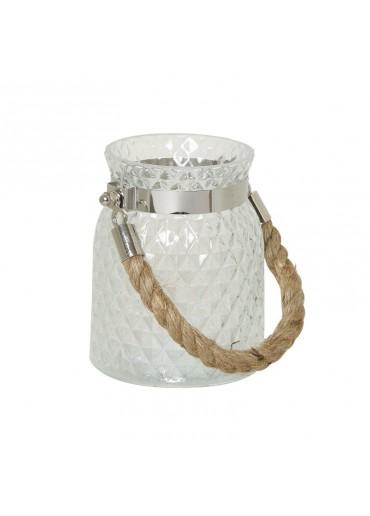 Windlicht Alvito groß Glas klar