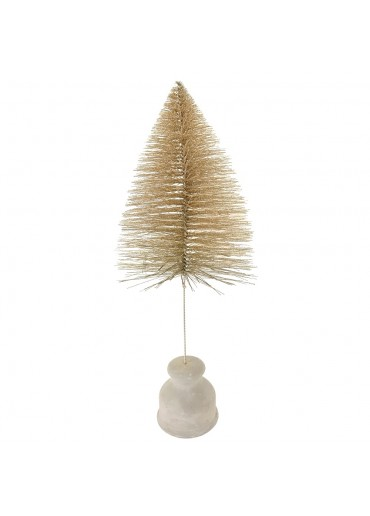 "Tannenbaum ""Glitter"" champagner-gold groß H 40 cm"